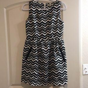 Young Threads Dress Black & White Sleeveless